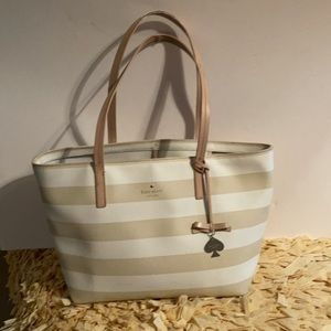 Kate Spade Striped Tote Bag Purse